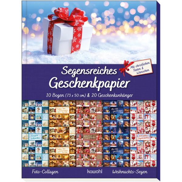Geschenkpapier-Buch: Weihnachts-Segen (Foto-Collagen)