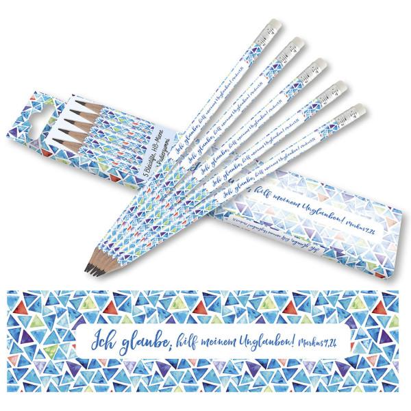 Aquarell-Motiv: <i>Muster / Dreiecke</i> (Blautöne)