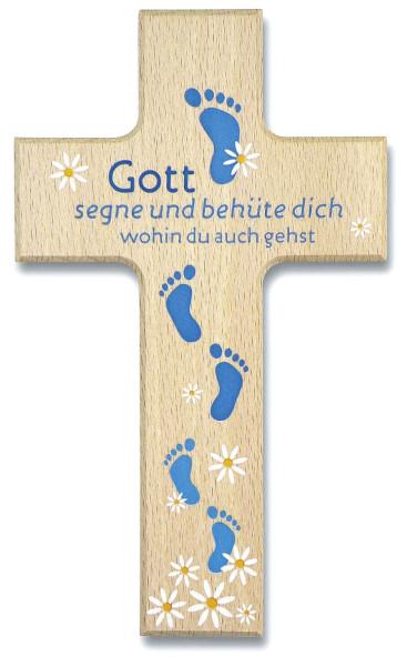 Holzkreuz 'Gott segne und behüte' sortiert