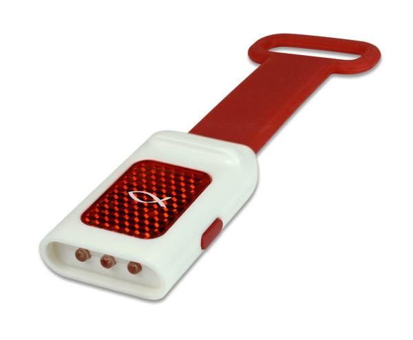 LED-Taschenlampe mit Reflektor, rot