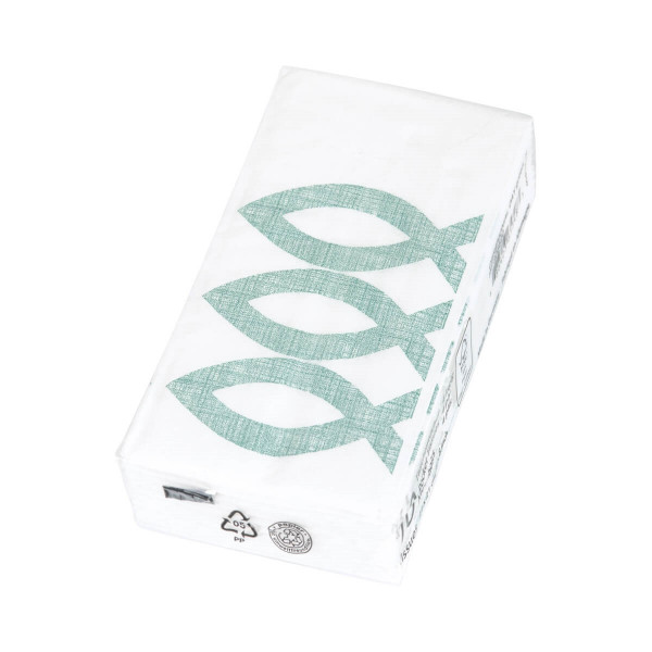 Papier-Taschentücher 'Fisch' grün
