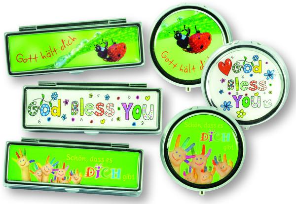 Spar-Paket: Lippenstift-Etuis und Pillendosen