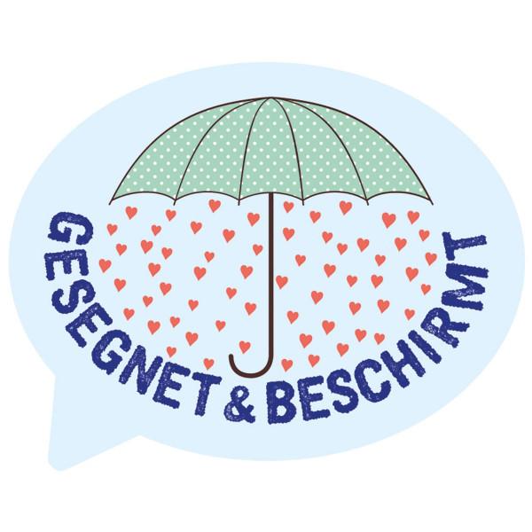 Regenschirm / Sprechblase