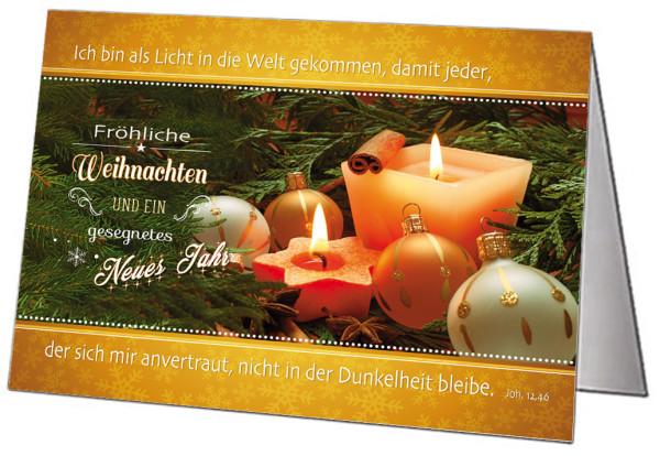 Faltkarte Weihnachten 5 Ex.