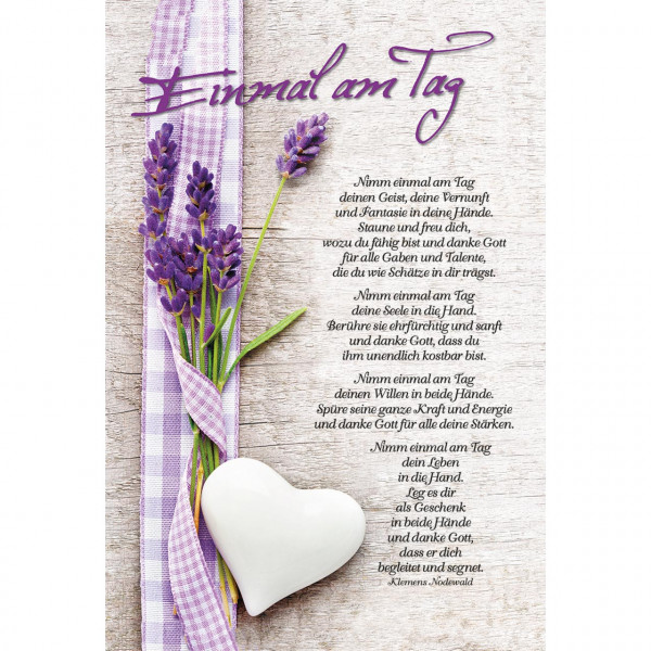 Lavendel Herz