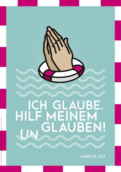 Poster A3 'Ich glaube'