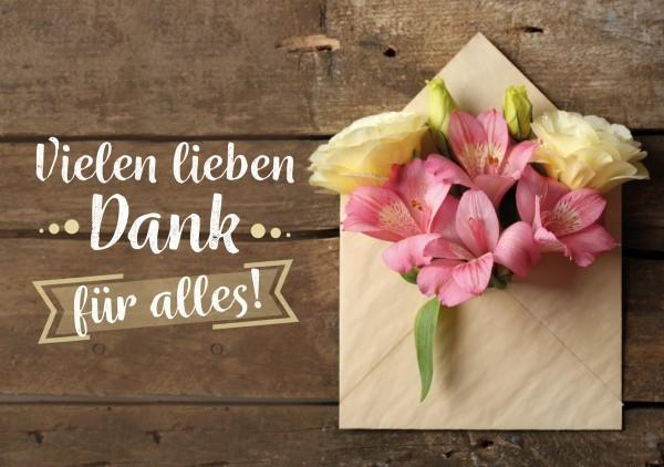 Faltkarte 'Vielen lieben Dank für alles!'
