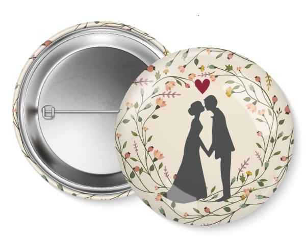Button Hochzeit - 6er-Set
