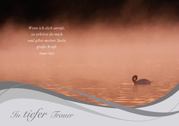 Faltkarte 'In tiefer Trauer'