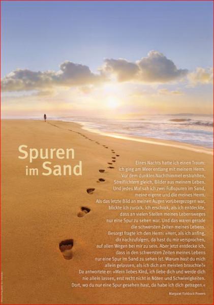 Poster A3 'Spuren im Sand'