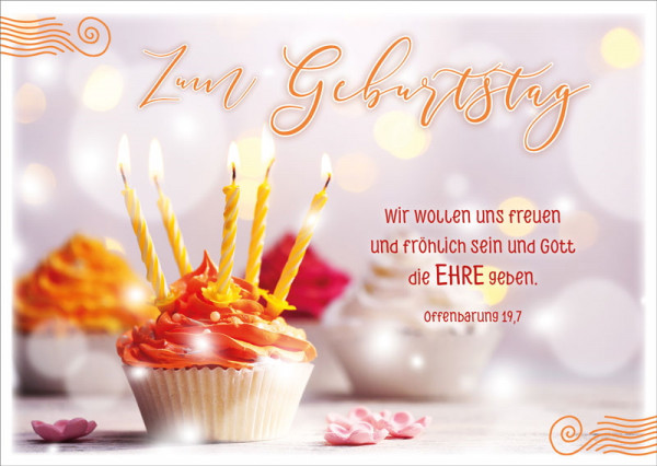Postkarte 'Zum Geburtstag' 12 Ex.