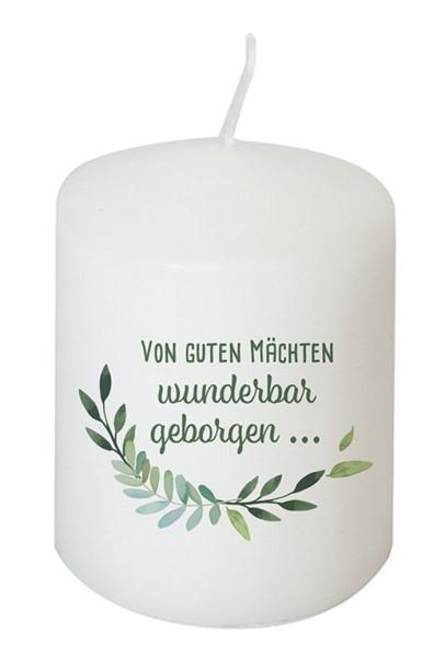 Kerze 'Von guten Mächten wunderbar geborgen...' 8 cm