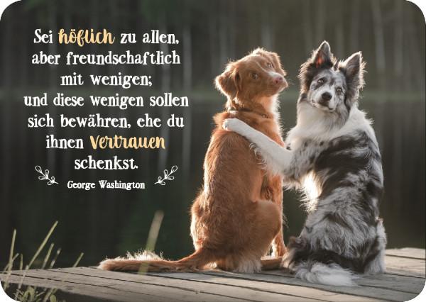 Postkarte 'Sei höflich zu allen, aber freundschaftlich zu wenigen; und diese wen