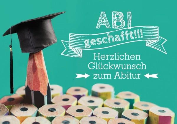 Faltkarte 'ABI geschafft!!'