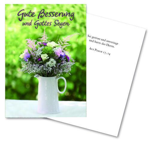 Faltkarte 'Gute Besserung und ...'