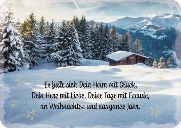 Postkarte 'Es fülle sich dein Heim mit Glück, Dein Herz mit Liebe, Deine Tage mi