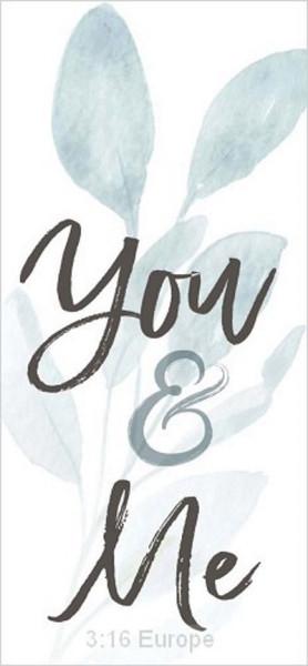 Tabletop word block 'You & Me'