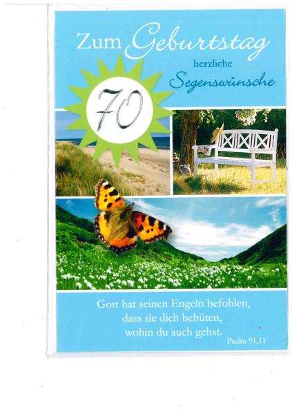 Faltkarte 70. Geburtstag