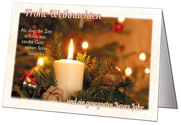 Faltkarte 'Frohe Weihnachten' 5 Ex.