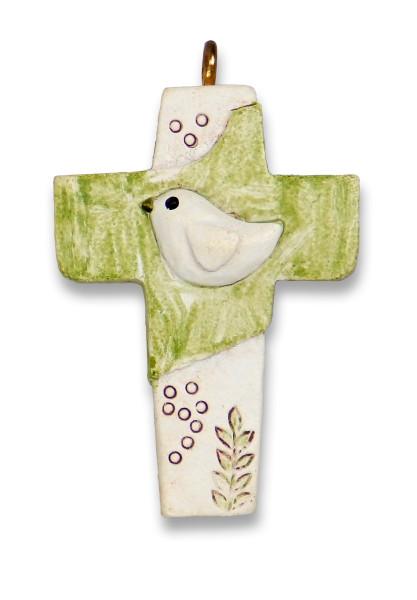 Geschenkanhänger Kreuz 'Taube'