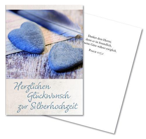 Faltkarte 'Zur Silberhochzeit'