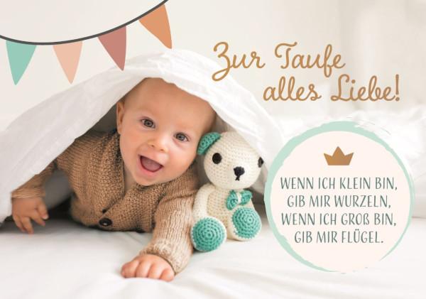 Faltkarte 'Zur Taufe alles Liebe!'
