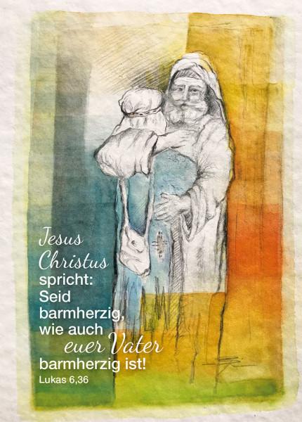 Postkarte Seid barmherzig 12er Set Jahreslosung