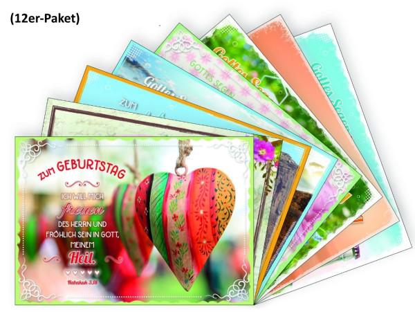Paket 'Faltkarten Geburtstag 12 Ex.