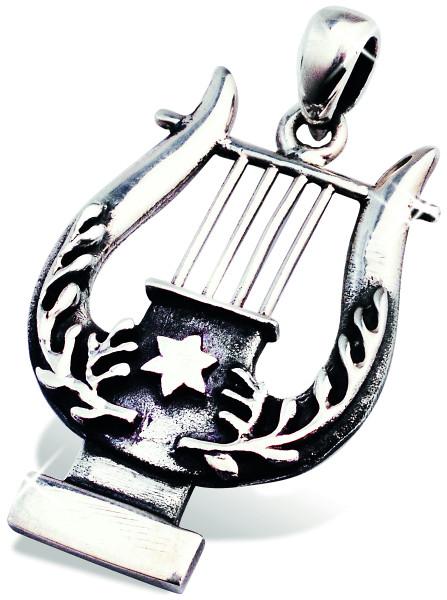 Harfe mit Davidstern