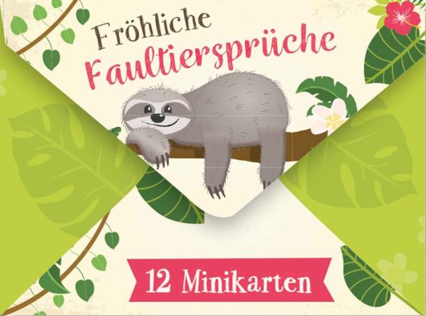 Fröhliche Faultiersprüche /12 Minikarten