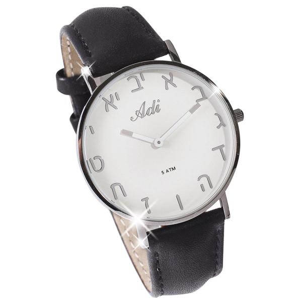 Armbanduhr, Silber / Schwarz