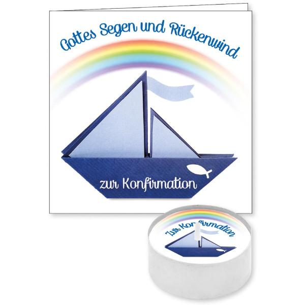 Regenbogen / Papier-Schiff / Fisch (Ichthys)