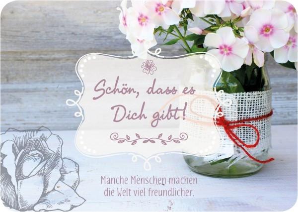 Postkarte 'Schön, dass es Dich gibt!'
