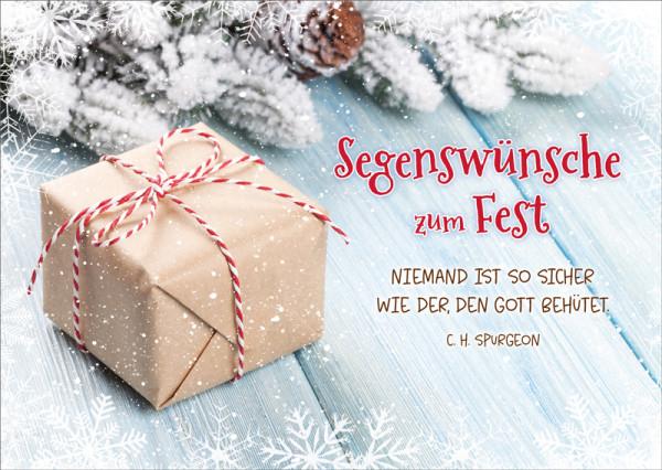 Postkarte 'Segenswünsche zum Fest' 12 Ex