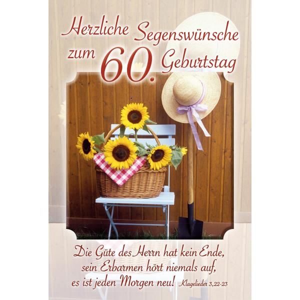 Segenswünsche zum 60. Geburtstag