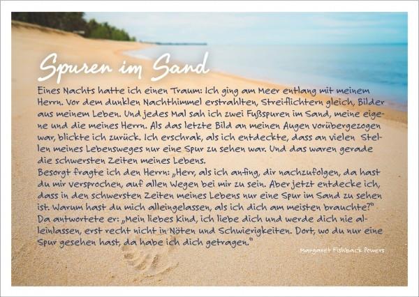 Postkarte 'Spuren im Sand'