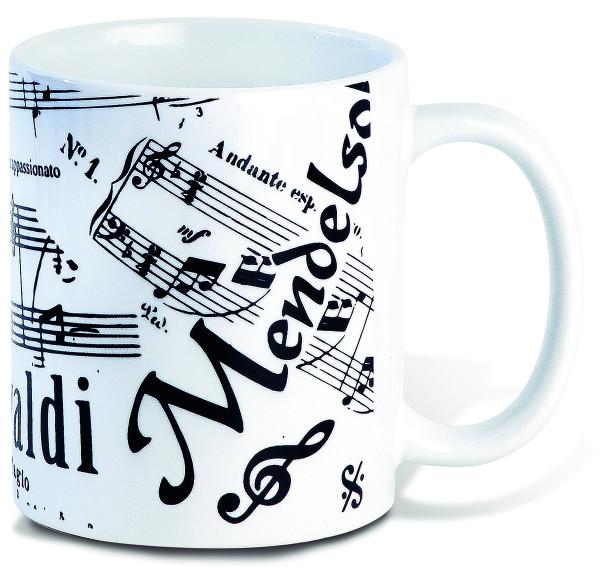 Noten / Violinschlüssel / Bassschlüssel / Notensystem